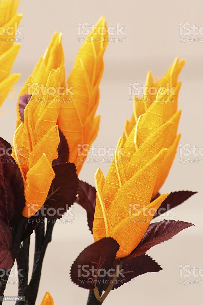 Fake yellow flowers royalty-free stock photo