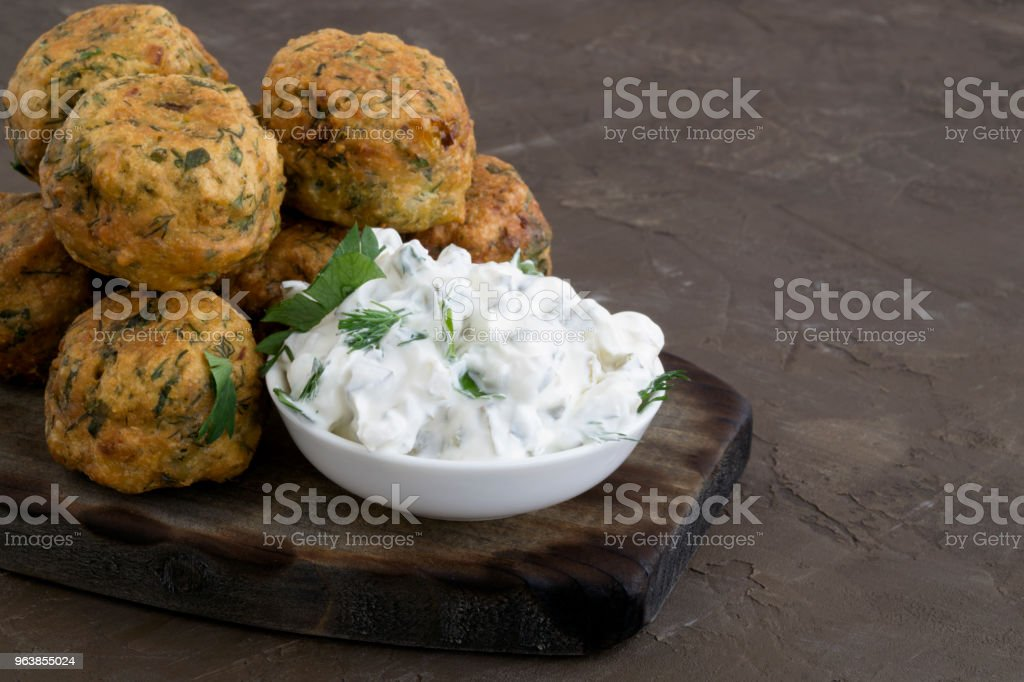 Falafel, a traditional Israeli dish of chickpea. - Royalty-free Chick-Pea Stock Photo
