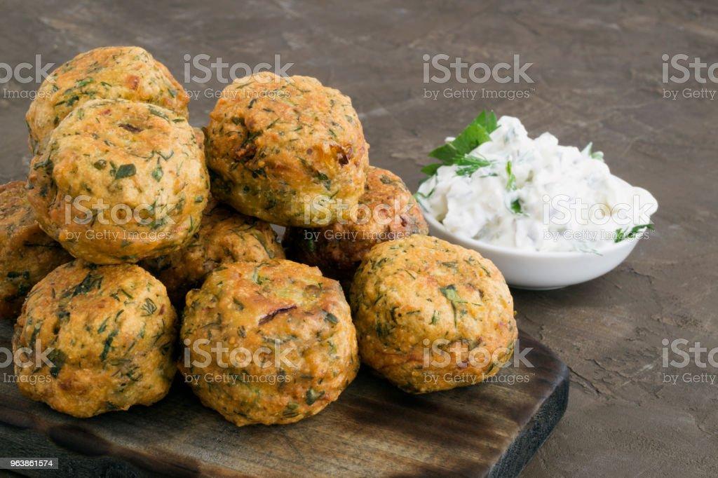 Falafel, a traditional Israeli dish of chickpea. - Royalty-free Arabia Stock Photo
