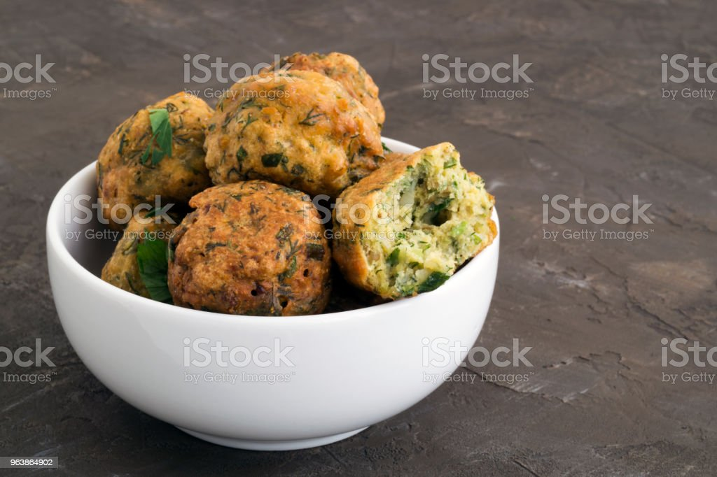 Falafel, a traditional Israeli dish of chickpea. - Royalty-free Arabia Stock Photo