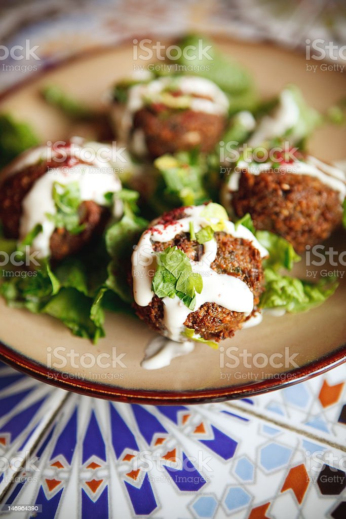 Falafel Appetizer royalty-free stock photo