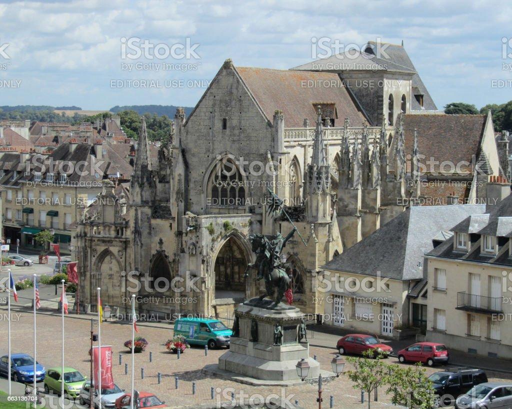 Falaise Town stock photo