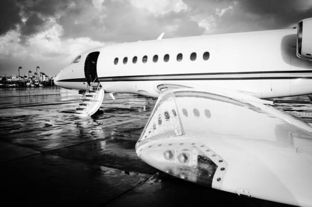 Falcon Business Jet stock photo
