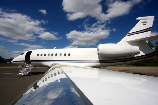 Falcon Business Jet Ready to Go stock photo