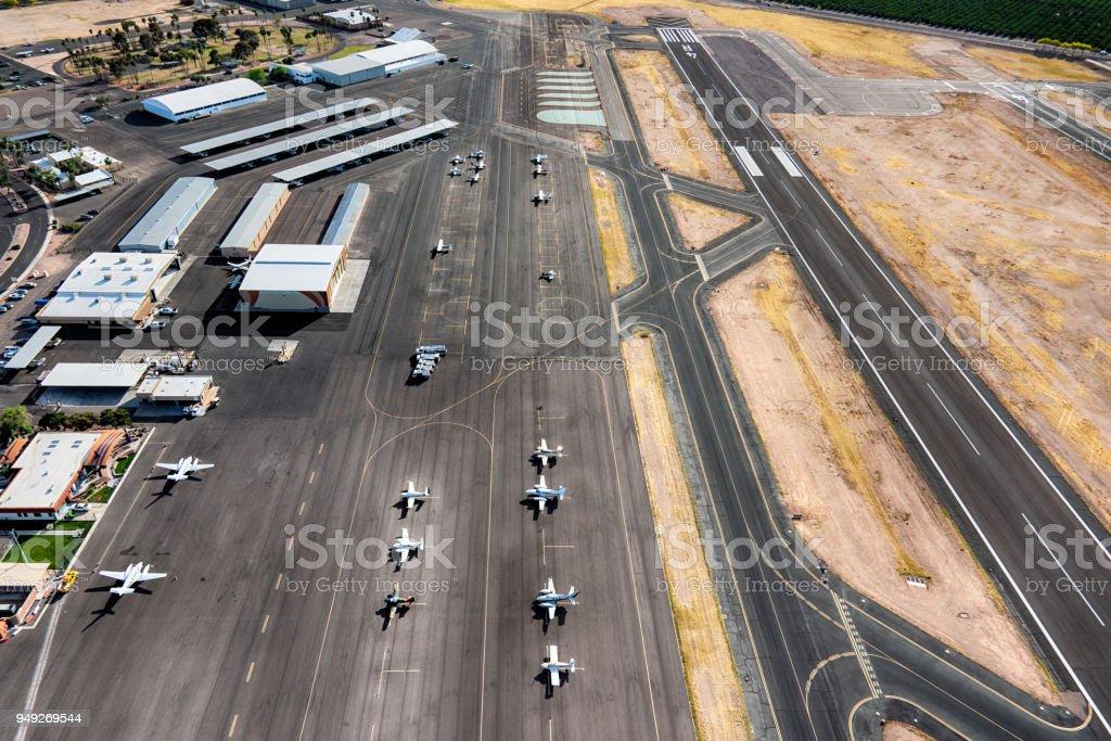 Falcon Field Municipal Airport stock photo