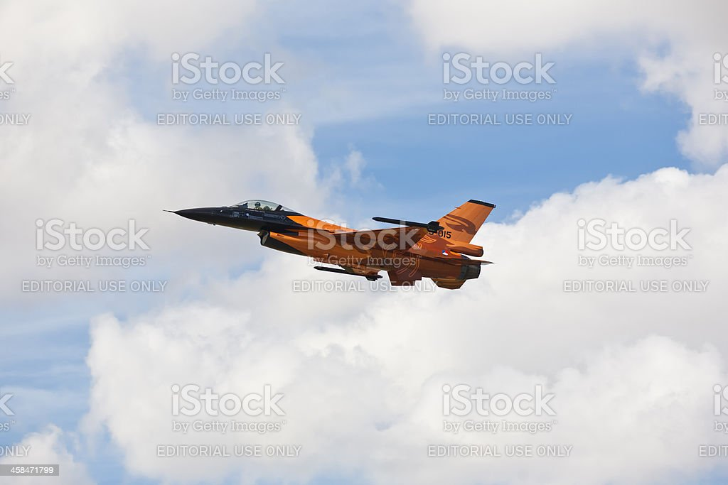 F-16 Falcon fighter jet in air show RIAT Fairford UK royalty-free stock photo