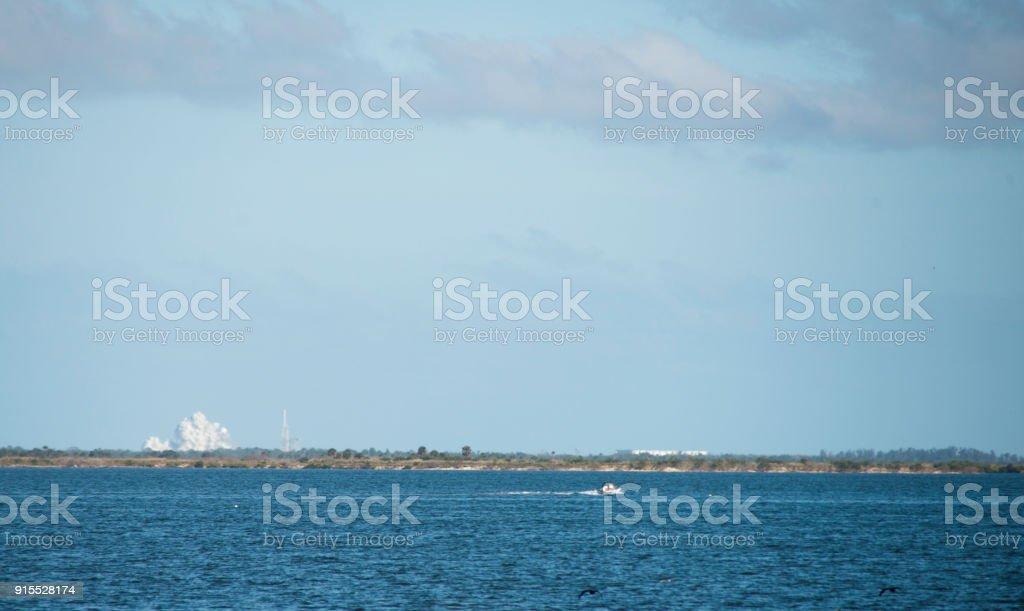Falcon Heavy Launch at Cape Canaveral stock photo