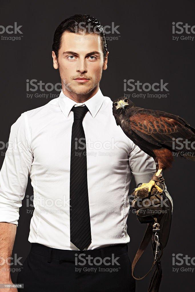 Falconeer stock photo