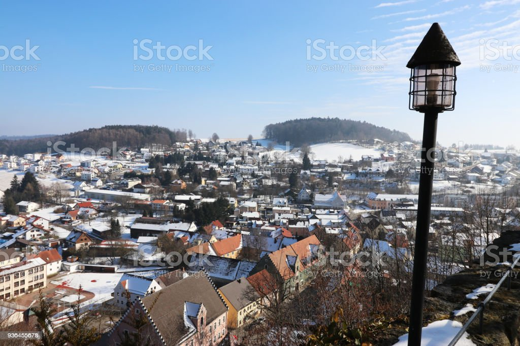 Falkenstein in the Upper Palatinate stock photo