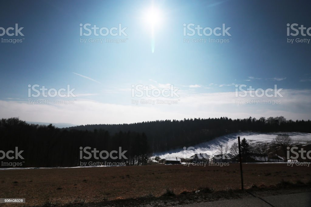 Falkenstein in the Upper Palatinate with the landmark stock photo