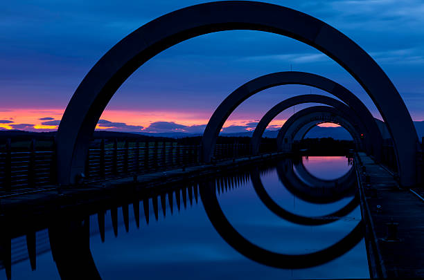 Falkirk Wheel Abstract. stock photo