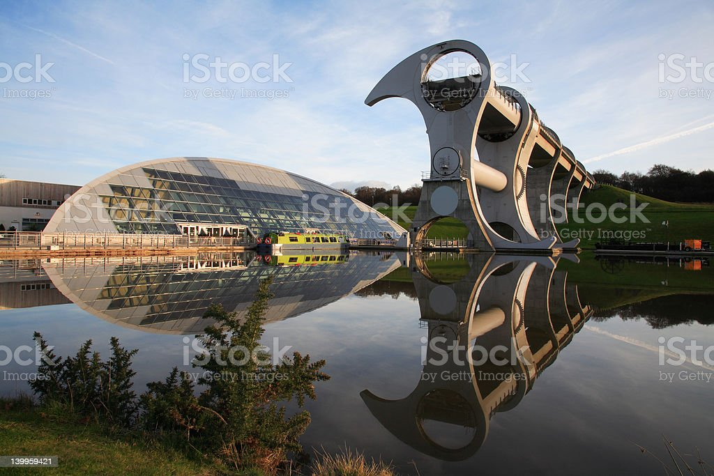 Falkirk Wheel royalty-free stock photo