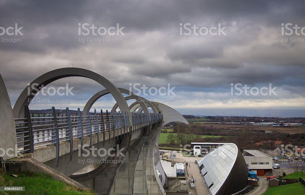 Falkirk Wheel stock photo