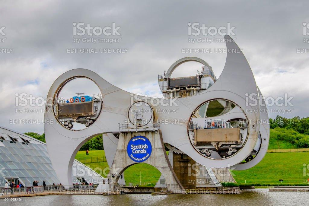 Falkirk Wheel, Scotland stock photo