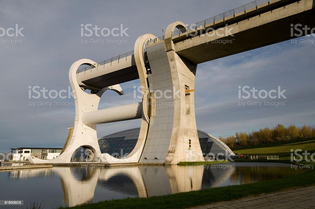 Falkirk Wheel, Scotland's unique rotating boat lift. stock photo