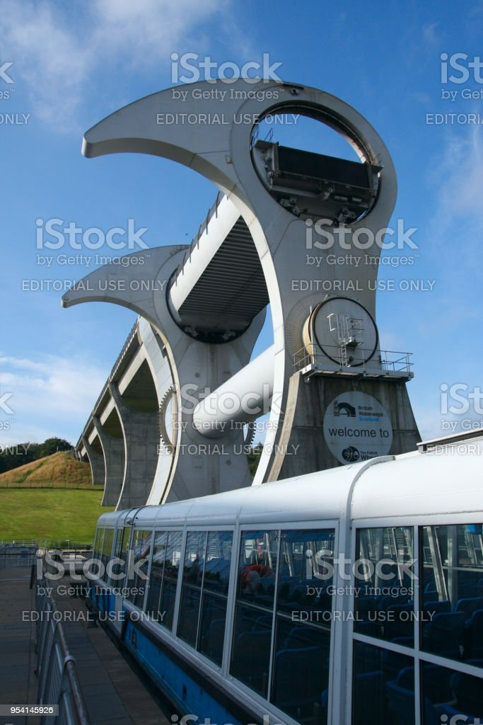 Falkirk Wheel Unique Rotating Boat Lift In Central Scotland