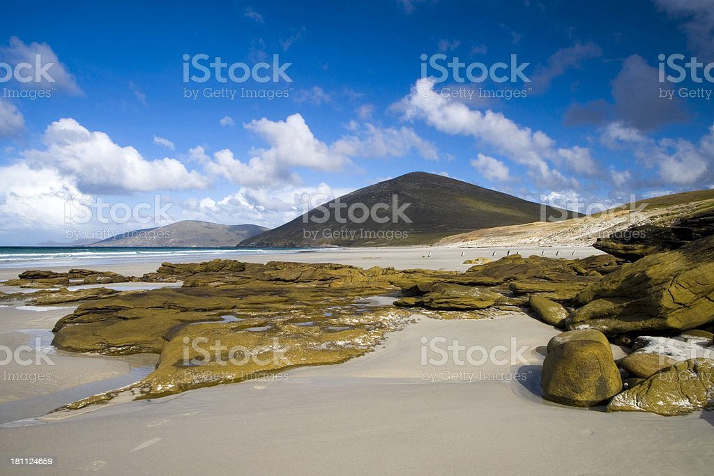 Falkland Beach Scene stock photo