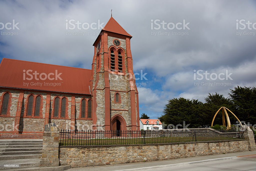 Falkland Islands Cathedral royalty-free stock photo