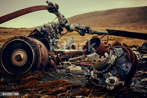 istock Falkland Islands Chinook Helicopter crash site 644267166