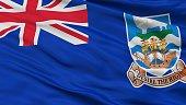 Falkland Islands Flag Closeup