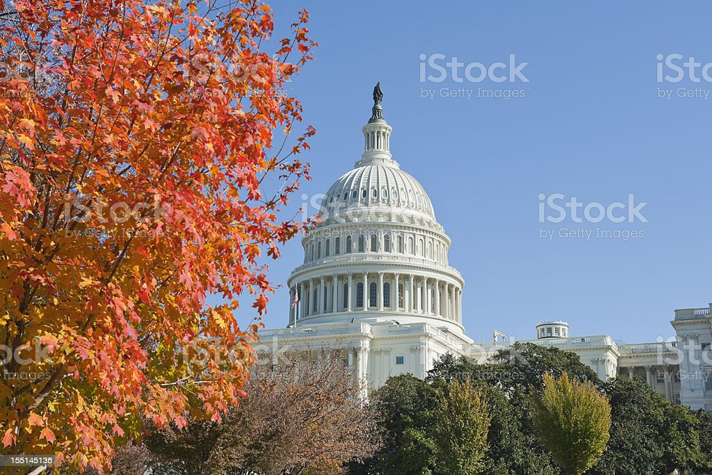 fall 2011 at Capitol hill Washington DC royalty-free stock photo