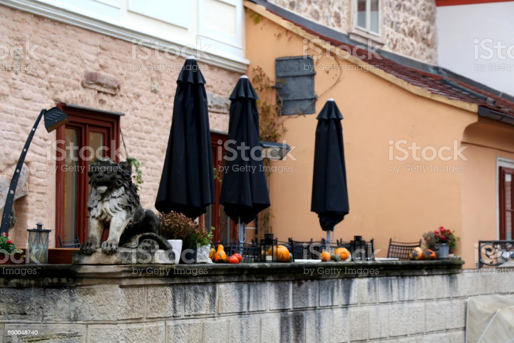 Fall And Halloween Decorations stock photo