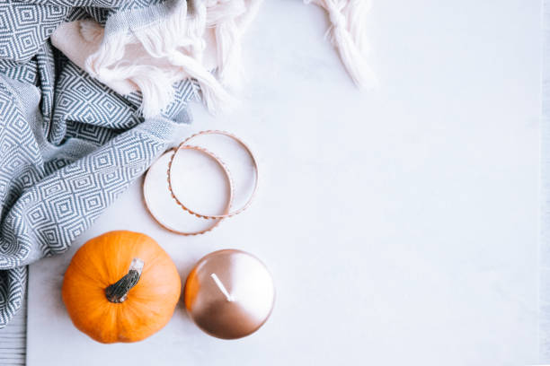 fall and winter beauty and fashion still life - fall fashion stock photos and pictures