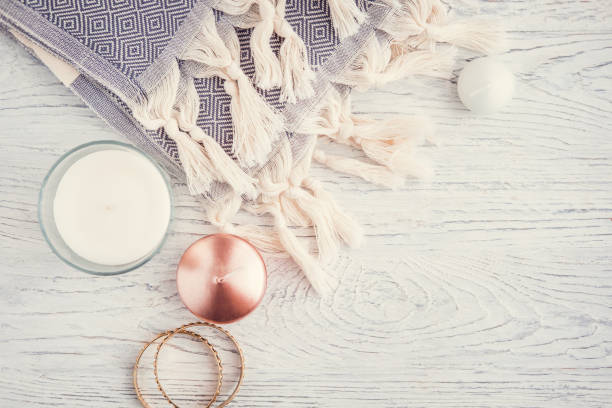 fall and winter woman fashion still life - fall fashion stock photos and pictures