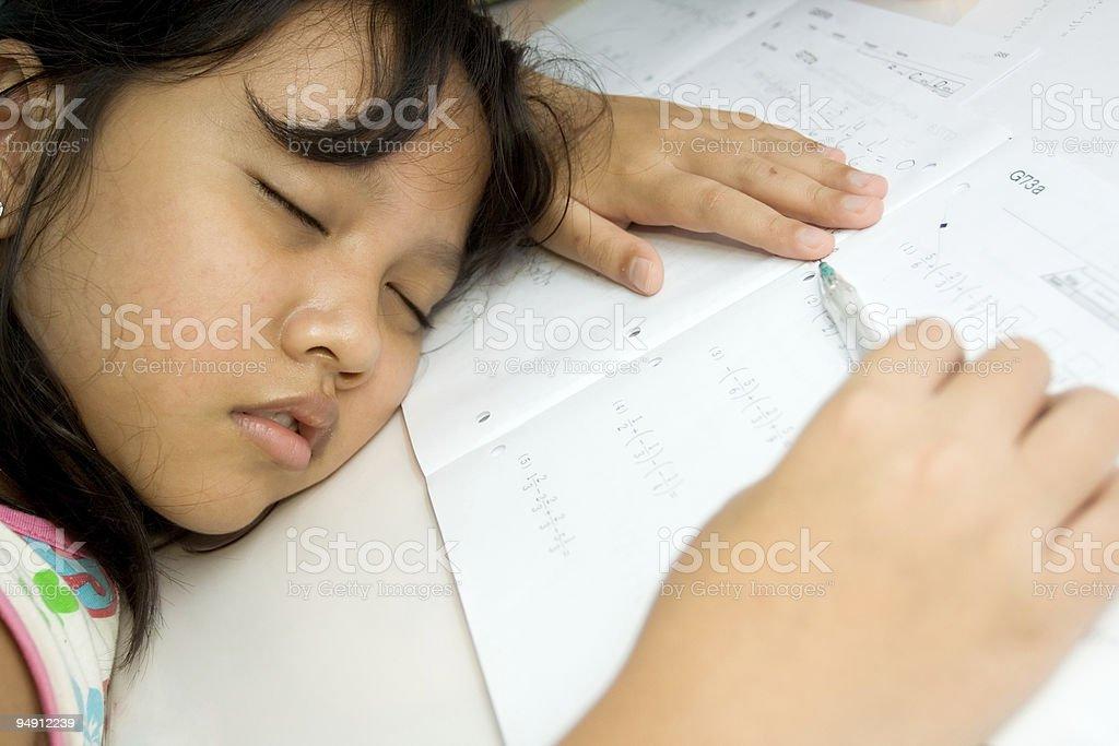 fall asleep royalty-free stock photo