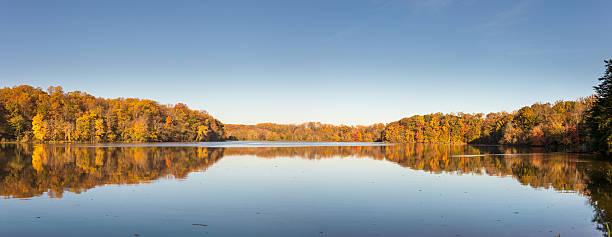 Fall at Lake Accotink stock photo