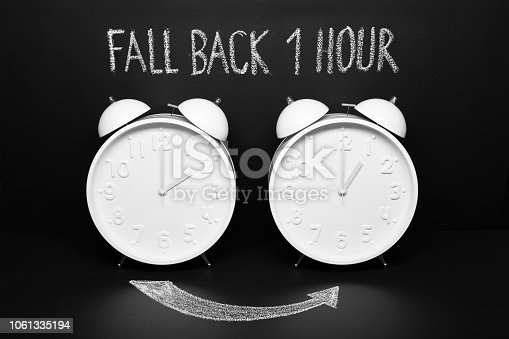 istock Fall back 1 hour concept. Autumn Time change 1061335194