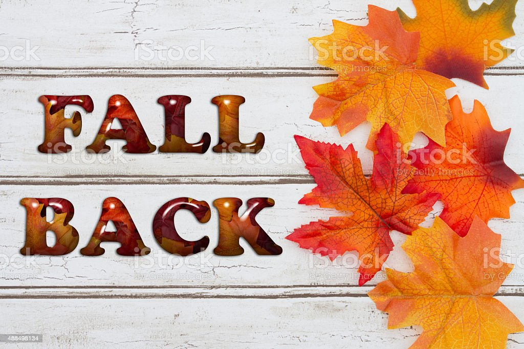 Fall Back stock photo