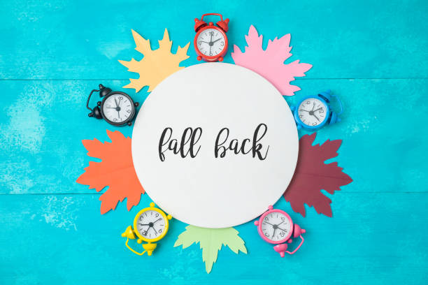 fall back time change concept. - back stock pictures, royalty-free photos & images