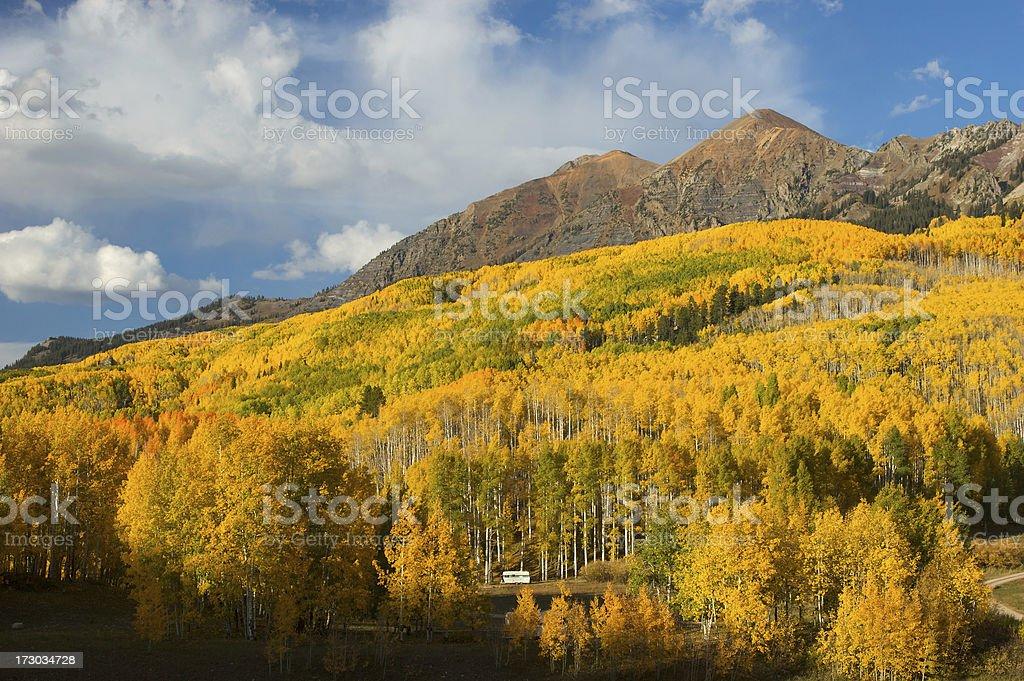 Fall Camping stock photo