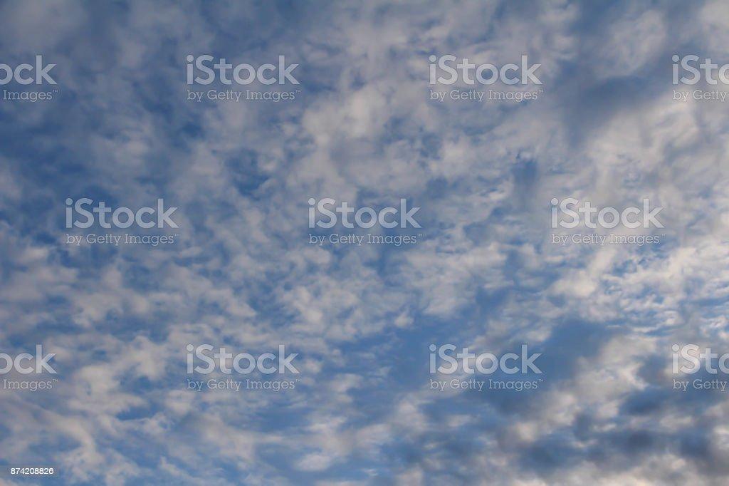 Fall cloud of autumn at dusk stock photo