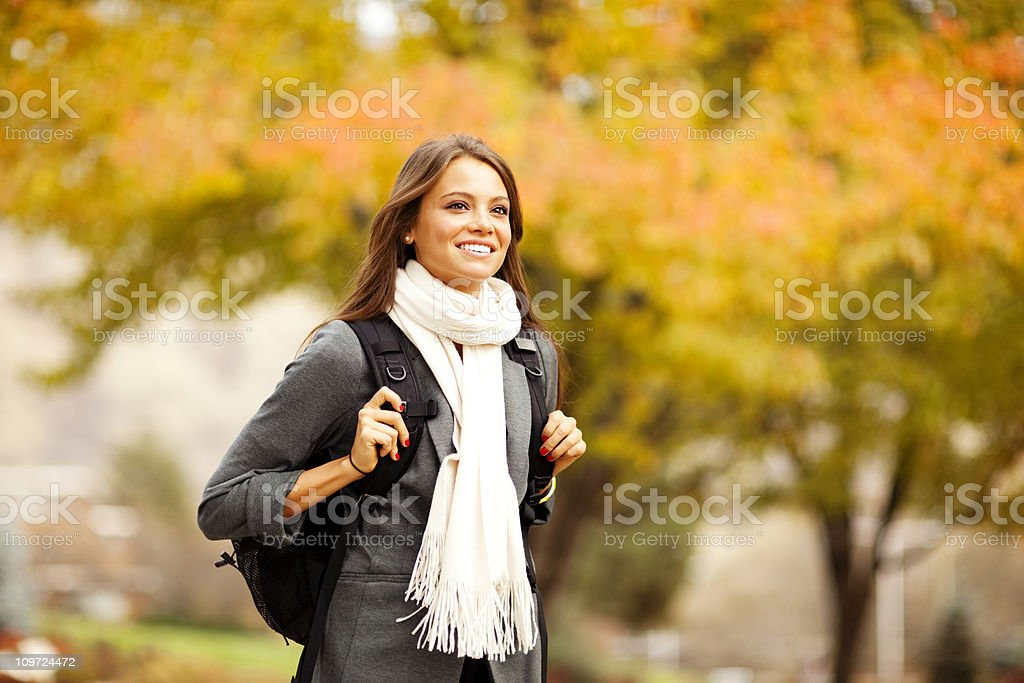 Fall College Student royalty-free stock photo
