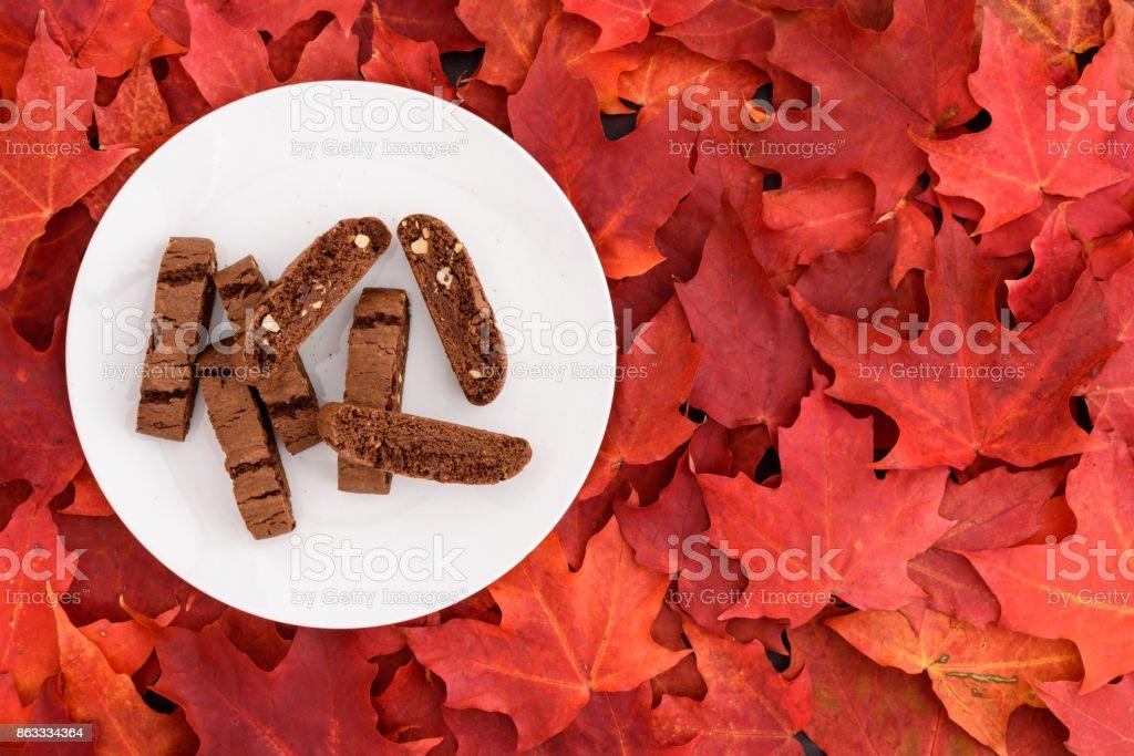 Fall color and tasty treats stock photo