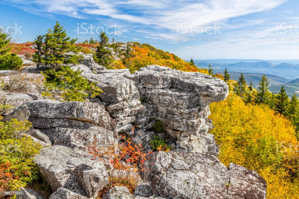 Fall Color at Bear Rocks stock photo