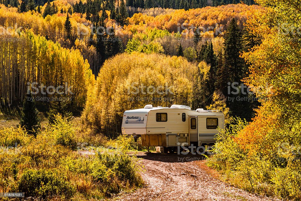 Fall Color in Crested Butte Colorado stock photo