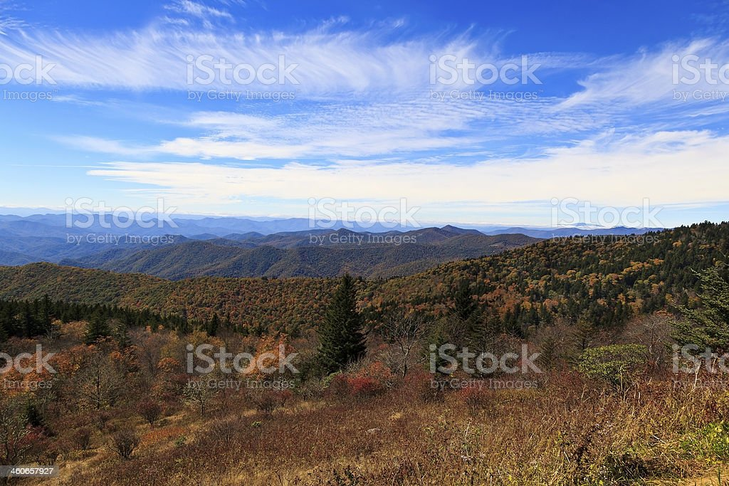 Fall Color in the Mountains stock photo