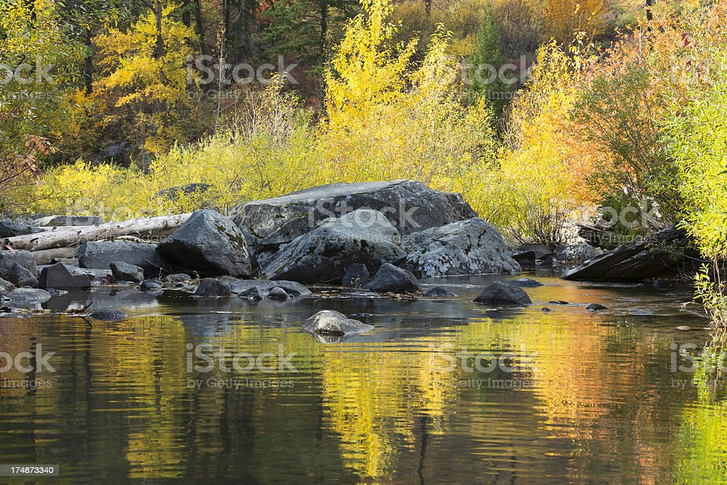 Fall color Reflection stock photo
