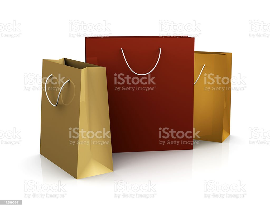 Fall Colored Shopping Bags (XXL) royalty-free stock photo