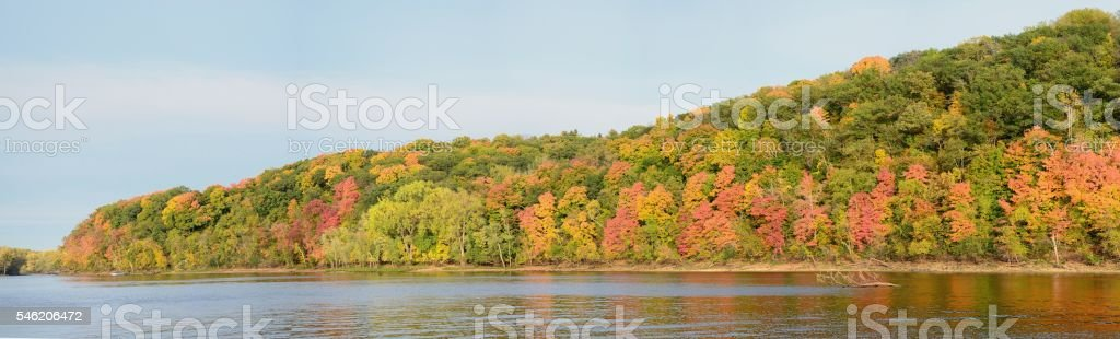 Fall Colors Along the St. Croix River stock photo