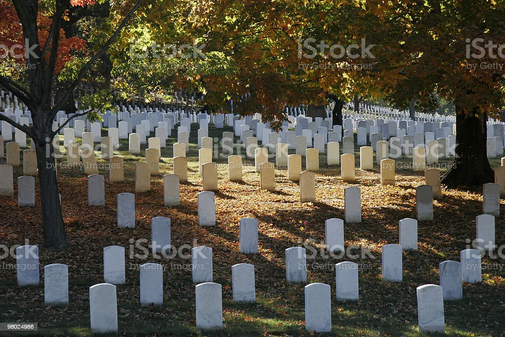 Fall Colors at Arlington National Cemetary royalty-free stock photo
