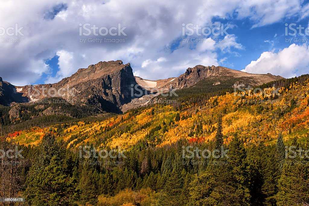Fall Colors at Rocky Mountain National Park, Colorado stock photo