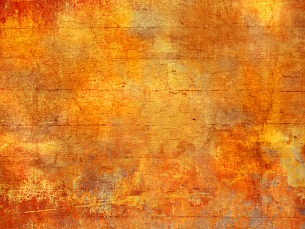 fall colors background texture - abstract autumn pattern in grunge style - осень стоковые фото и изображения
