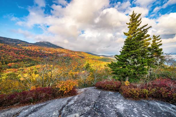 Fall colors, Blue Ridge Mountains stock photo