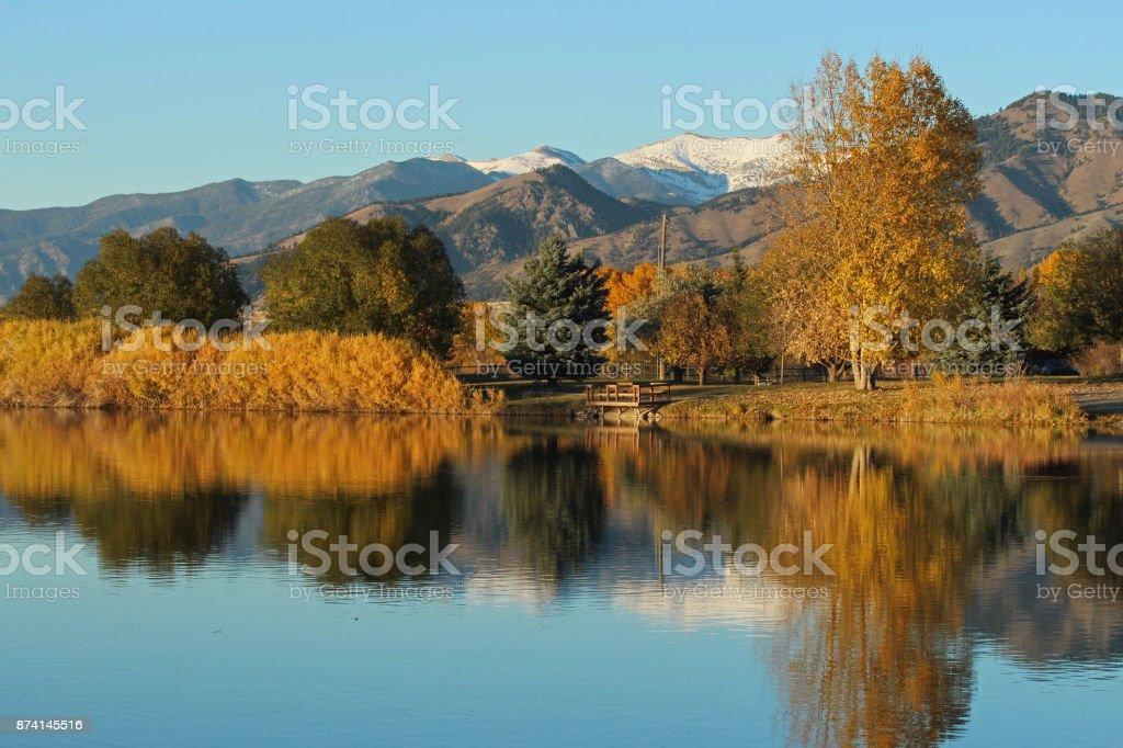Fall Colors - Bozeman, Montana stock photo