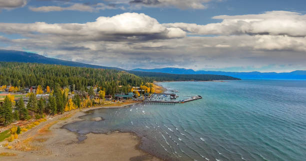 Fall Colors in Lake Tahoe stock photo