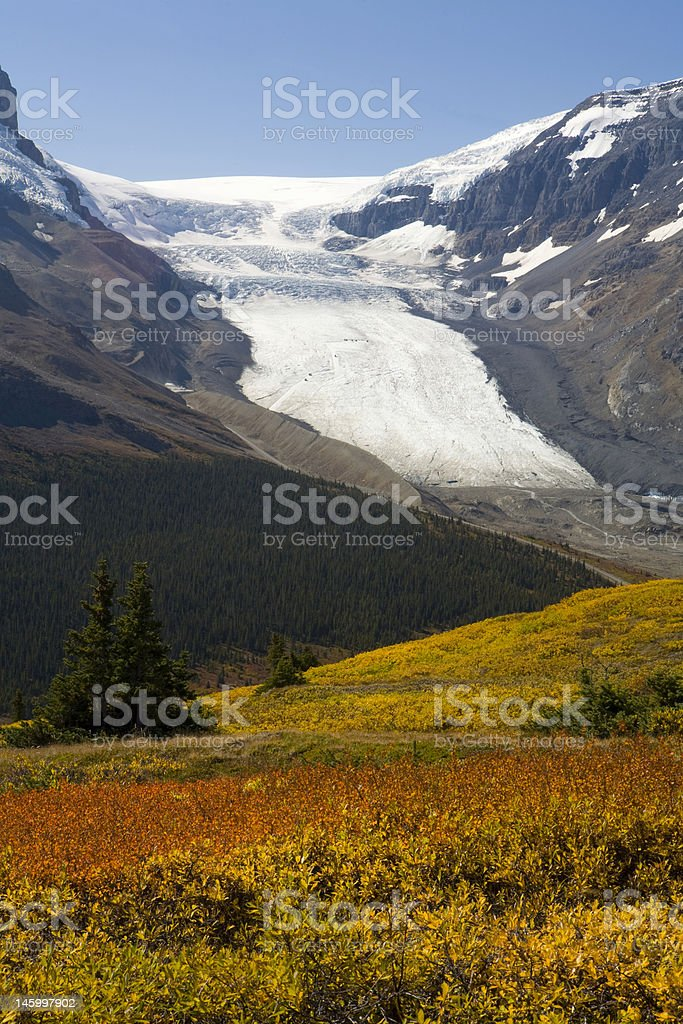 Fall colors in mountains stock photo